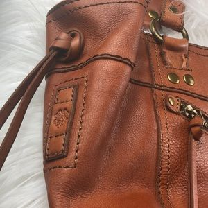 Lucky Brand Bags - Lucky Brand large detailed leather shoulder bag